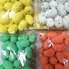 Velykinių kiaušinių dekoracijos iš putplasčio