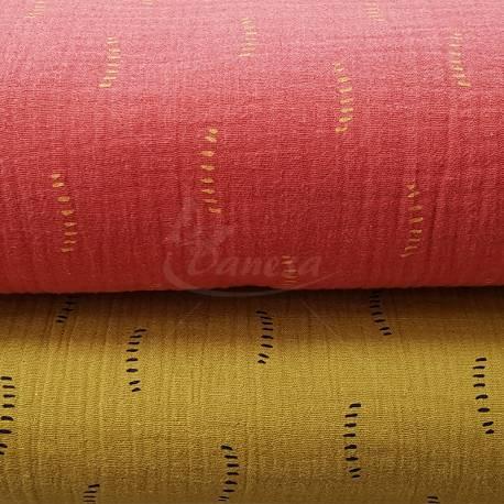 Muslino audiniai su raštu
